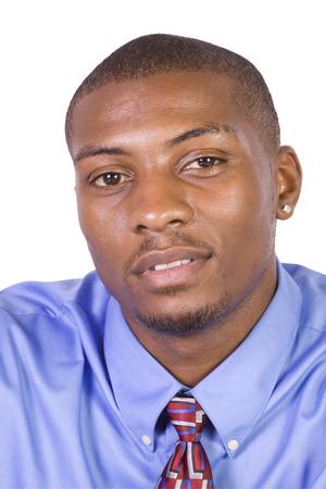 Handsome Black Businessman - Isolated background photo