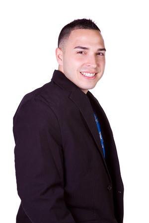 minority: Isolated Minority Businessman - Close up Shot on White Background