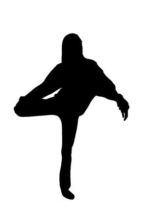 Silhouette shot of a Girl Dancing photo