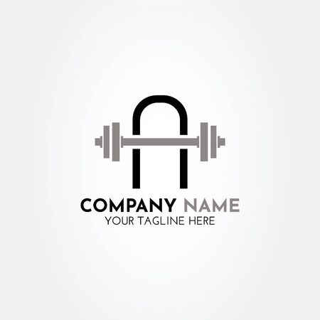 Modern, creative, simple A gym logo vector