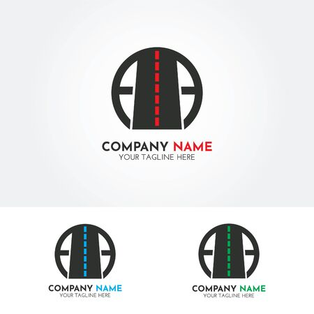 Creative and modern road logo vector