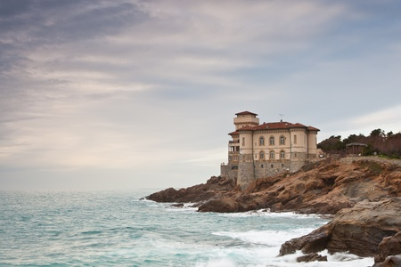 Boccale castle, famous landmark in Tuscany northern shore photo