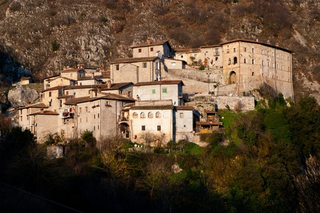 View of rural village of Rocca Vittiana in central Italy