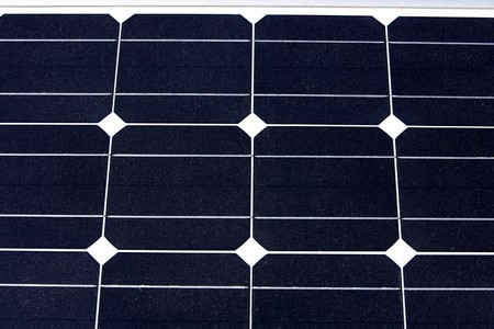 View in detail of a solar panel, close-up Stock Photo
