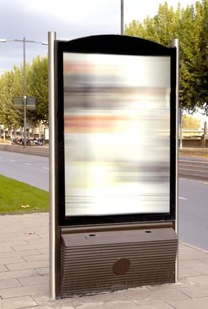 Billboard for advertisement, Barcelona, Spain