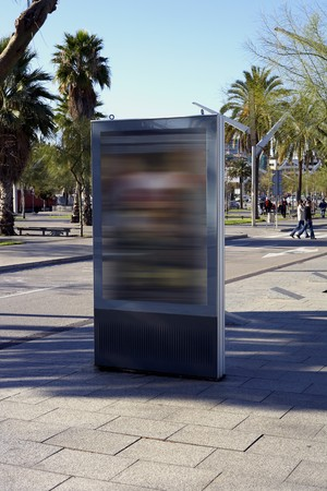forniture: Billboard for advertisement, Barcelona, Spain