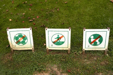 Restrictions in a public Park photo