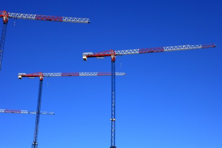 forniture: View of cranes in a clear blue sky