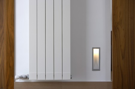 Wall art with light fixture Stock Photo
