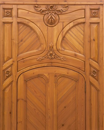 clave: View of a wooden door Stock Photo