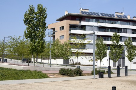Apartment building powered with solar energy
