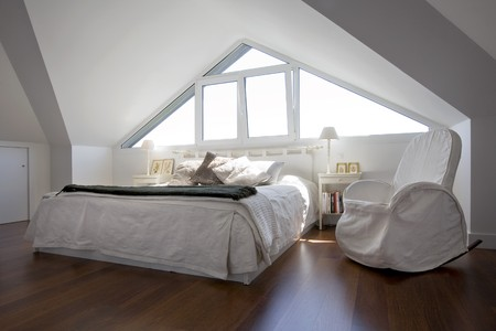 floor covering: Interiors of a bedroom