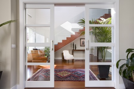 glass door: Interiors of a house