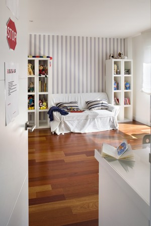 Interiors of a house, kids room photo