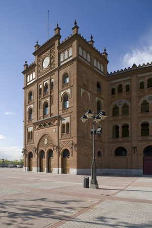 las ventas: Partial views of the entrance of Las Ventas bullring, Madrid Stock Photo