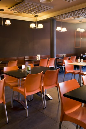 restaurant industry: Chairs and tables in a restaurant
