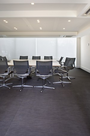 mediterranean interior: Interiors of a board room Stock Photo