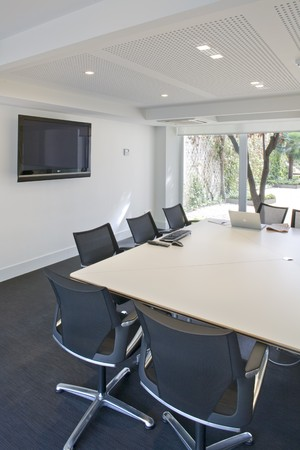 Interiors of a board room Stock Photo