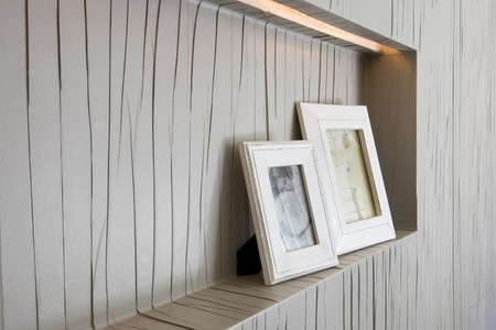 Close-up of picture frames photo