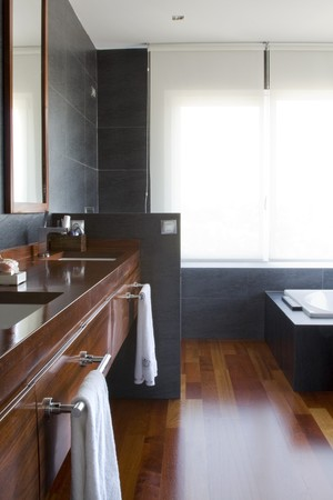 Interiors of a bathroom Stock Photo