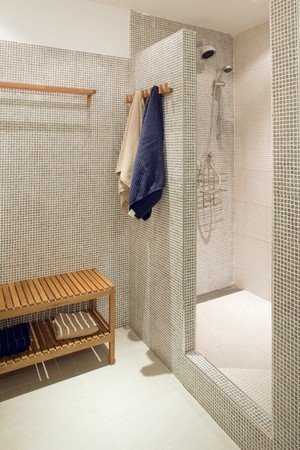 showcase interiors: Interiors of a bathroom Stock Photo