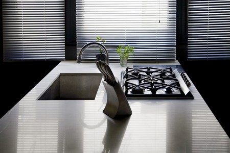 worktop: Interiors of a domestic kitchen