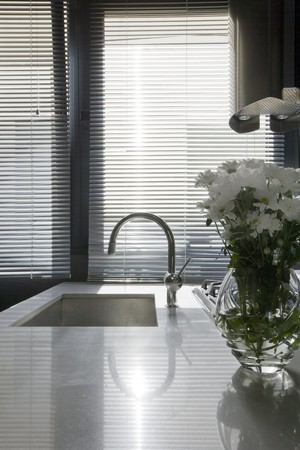 Interiors of a domestic kitchen photo