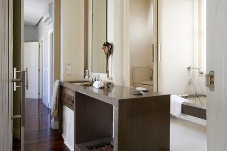 ensuite: Interiors of a bathroom Stock Photo