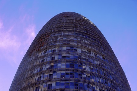 body scape: View of the Agbar Tower, architect Jean Nouvel, Barcelona, Spain