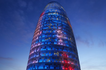 View of the Agbar Tower, architect Jean Nouvel, Barcelona, Spain Stock Photo - 7214972