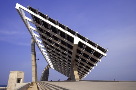 countrysides: Low angle view of a big solar panel LANG_EVOIMAGES
