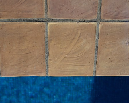 mediterranian home: Partial view of a swimming pool