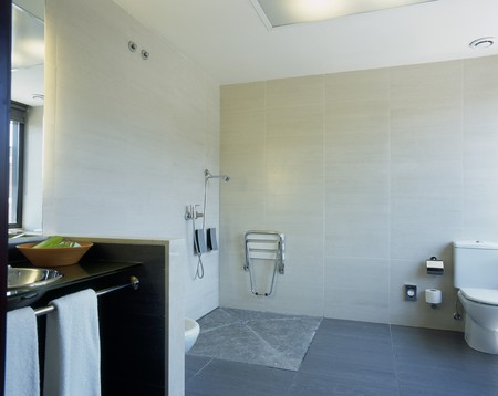 abodes: View of a spacious bathroom