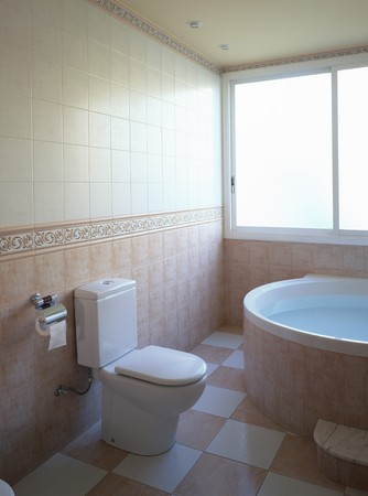 mediterranian home: View of an esthetic bathroom
