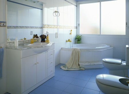 mediterranian style: View of an elegant bathroom