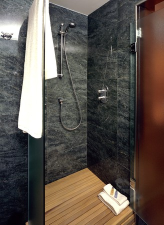 View of a tiled bathroom Stock Photo - 7215050