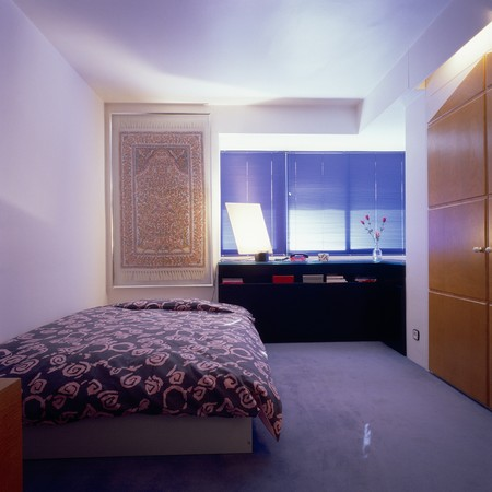 mediterranian style: View of a neat bedroom LANG_EVOIMAGES