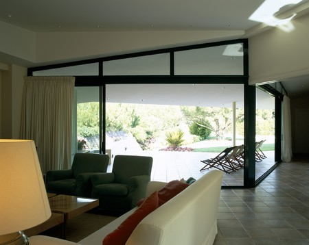 mediterranian style: Partial view of a living room