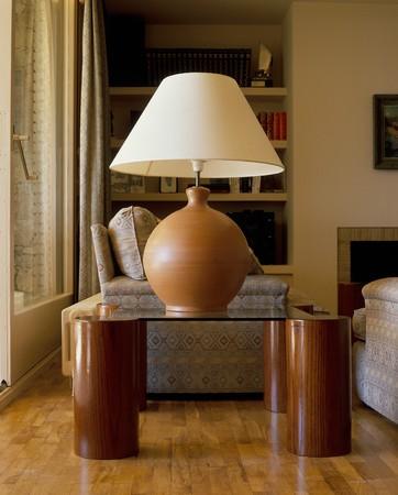 abatjour: Visualizzazione di una lampada in un salotto