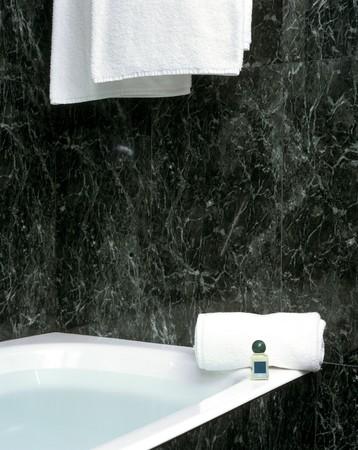 abodes: Partial view of a bathtub