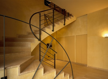 mediterranean interior: View of staircase in an office