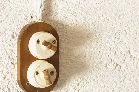 mediterranian style: Close-up of a switch LANG_EVOIMAGES