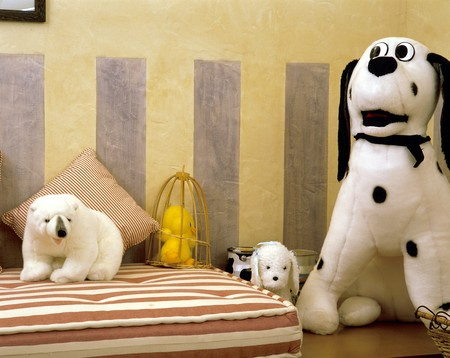 View of stuffed toys in a children's room Stock Photo - 7215212