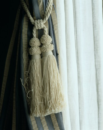 mediterranian houses: Close-up of an elegant curtain