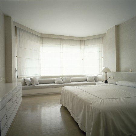 View of a spacious bedroom