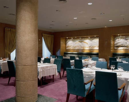 mediterranian style: View of an elegant dining area
