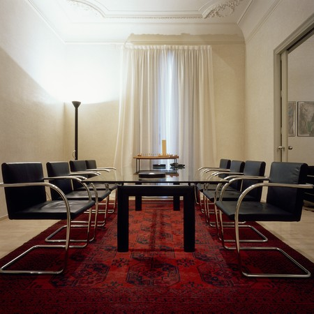 mediterranian style: View of an eclectic conference room LANG_EVOIMAGES