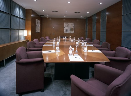 mediterranian homes: View of an elegant conference room