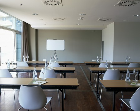 mediterranean interior: View of a conference room