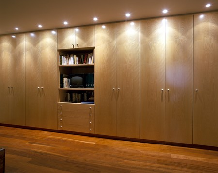 panelling: View of elegant wardrobes